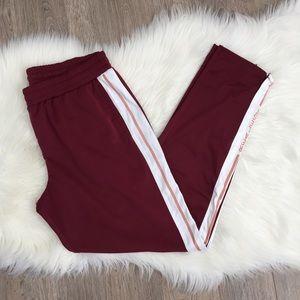 🍉2 for $30🍉 Forever 21 Burgundy Trackpants